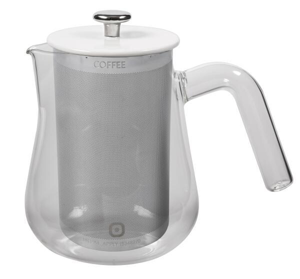 Carl Henkel Kaffeekanne X-TRACT-BREW ARCA, clear handle