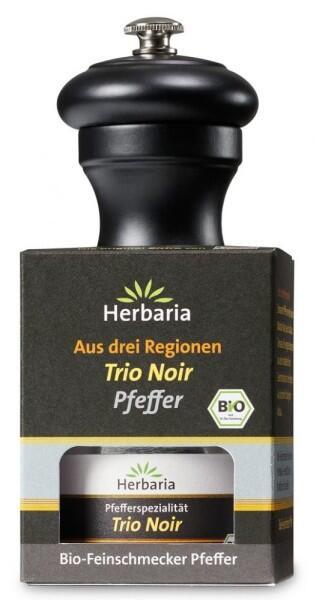 Herbaria Geschenkset Trio Noir Pfeffer mit Peugeot Pfeffermühle Bistro