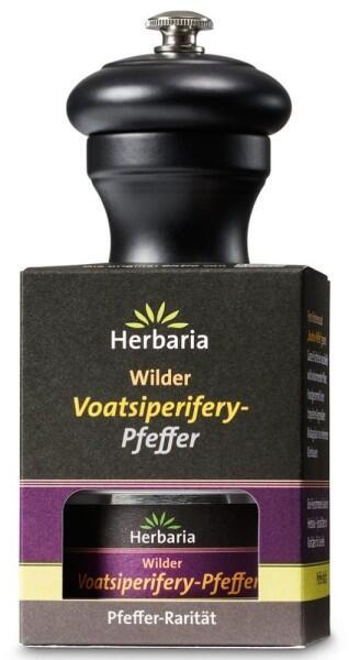 Herbaria Geschenkset Voatsiperifery Pfeffer mit Peugeot Pfeffermühle Bistro