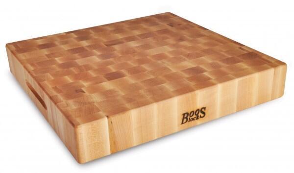 Boos Blocks Hackbrett aus Ahorn, 46 x 46 cm
