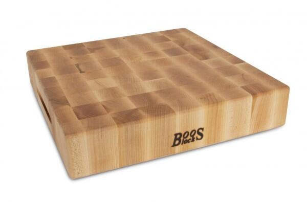 Boos Blocks Hackbrett aus Ahorn, 38 x 38 cm