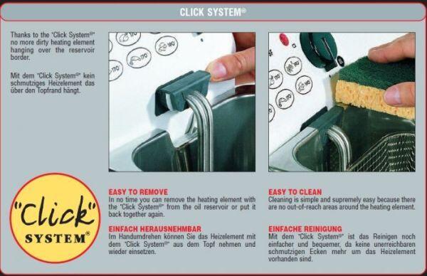 Das Click-System für die einfache Reinigung