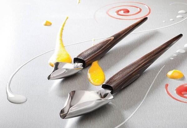 Küchenprofi Dekorierlöffel mit Holzgriff, 2-teilig
