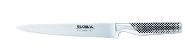 Global GF-37 Yoshikin Tranchiermesser 22 cm, geschmiedet