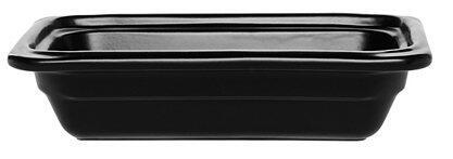Emile Henry GN-Schale rechteckig 1/4 in schwarz