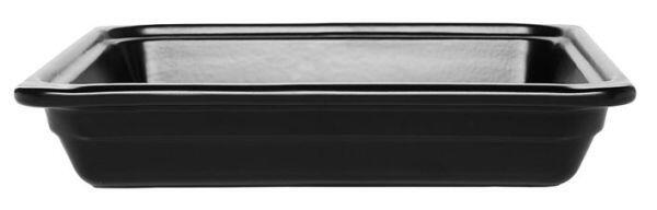 Emile Henry GN-Schale rechteckig 2/3 in schwarz