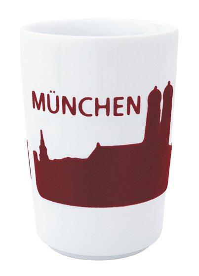 Kahla Five Senses touch! Maxi-Becher München in rot
