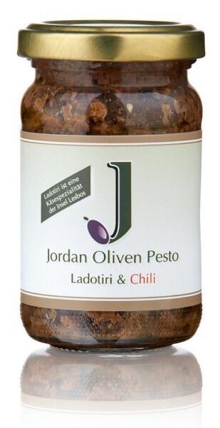 Jordan Oliven-Pesto mit Ladotiri & Chili