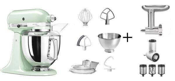 KitchenAid Küchenmaschine ARTISAN 175PS pistazie Kochprofi-Set