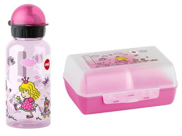 Emsa Kids Trinkflasche und Brotdose Princess, 2-teilig