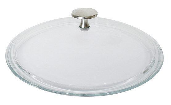 Glasdeckel flach für Staub Bräter und Pfannen