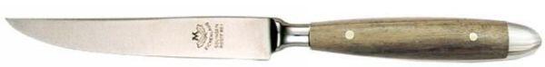 Eichenlaub Steakmesser Tafelgröße aus Eiche dunkel matt
