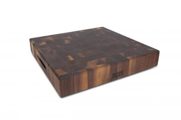Boos Blocks Hackbrett aus Walnuss, 46 x 46 cm