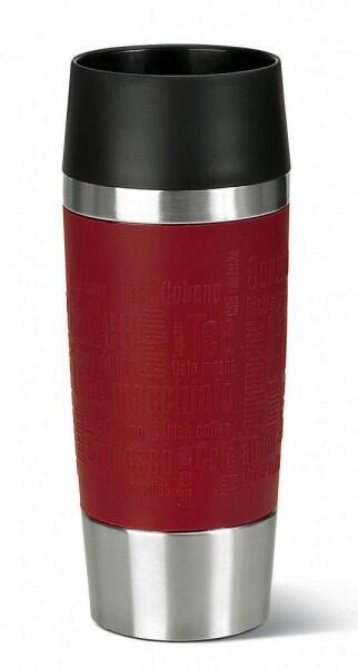 Emsa Isolier-Trinkbecher mit Manschette Travel Mug in rot