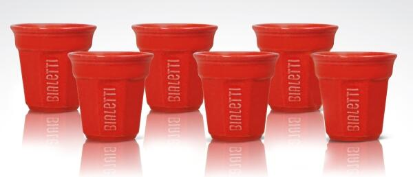 Bialetti Espressobecher Red, 6er-Set