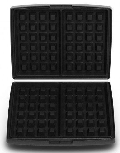 Fritel Backplatte Brüsseler und Lütticher Waffeln 4 x 6 für Waffeleisen