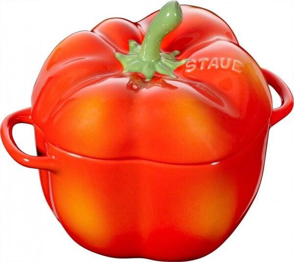 Staub Cocotte Paprika in orangerot