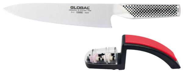 Global Starterset (Messer & Handschleifer), 2-teilig