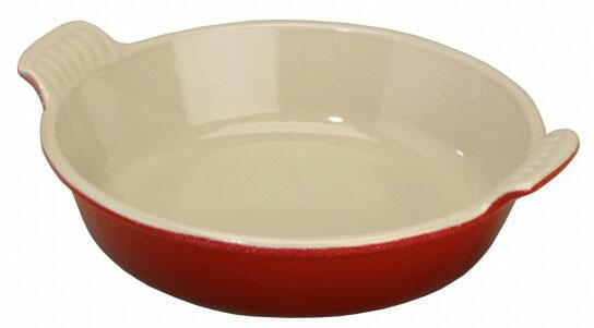 Le Creuset Platte rund in kirschrot