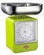 Wesco Küchenwaage Retro mit Küchenuhr in limegreen