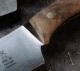 Windmühlenmesser Flachschmieder B 1 Universal- Koch-und Küchenmesser aus Walnusswurzelholz