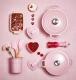 Le Creuset Herzförmchen mit Deckel chiffon pink