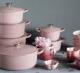 Le Creuset Bräter Signature rund in chiffon pink