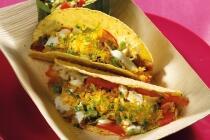 Fisch Tacos mit Krautsalat und Wassermelonen Salsa