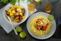 Tofu-Erdnuss-Curry mit Wildreis