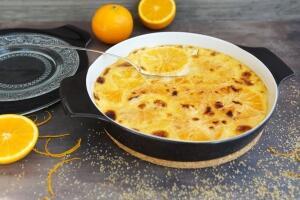 Crème Brûlée auf Orangen