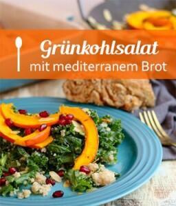 Grünkohl-Quinoasalat mit geröstetem Kürbis