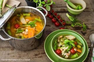 Frühlingssuppe mit Pesto