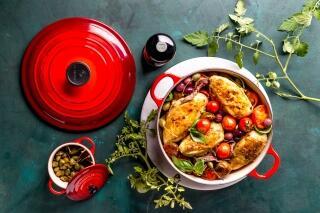 Hähnchentopf mit Tomaten, Kapern & Sardellen