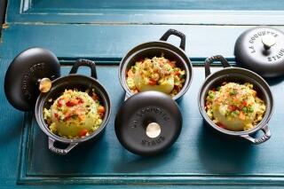 Gefüllte Kohlrabi mit Gemüse-Risotto