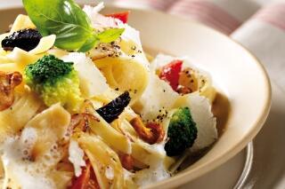 Fettuccine mit mediterranem Gemüse