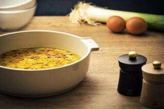 Gebackenes Omelette mit Kürbis
