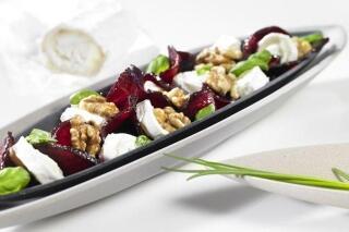 Rote Bete Salat mit Ziegenkäse