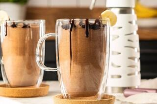 Bananen-Schokolade-Latte