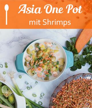 Asia One Pot mit Shrimps