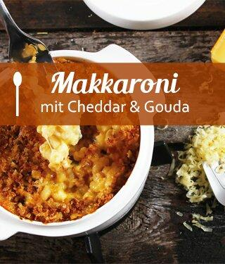 Makkaroni mit Cheddar und Gouda