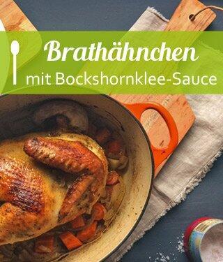 Brathähnchen mit Bockshornklee-Sauce