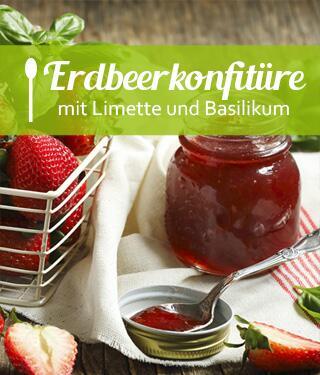 Erdbeer-Basilikum-Konfitüre
