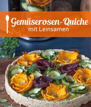Gemüserosen-Quiche