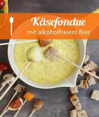 Käsefondue mit alkoholfreiem Bier