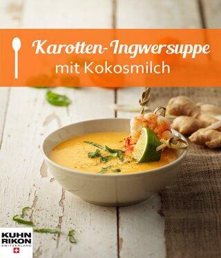 Karotten-Ingwersuppe mit Kokosmilch