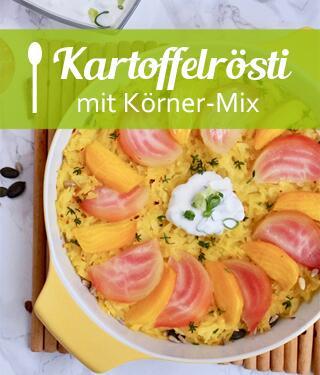 Kartoffelrösti mit Körner-Mix