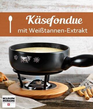 Käsefondue mit Weißtannen-Extrakt