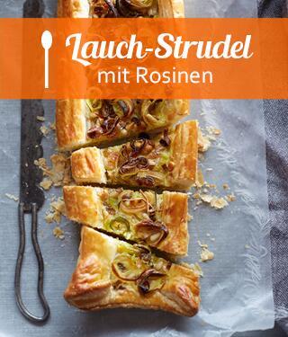 Rosinen-Lauch-Strudel