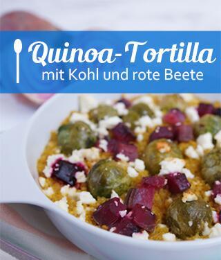 Quinoa-Tortilla mit Kohl und rote Beete