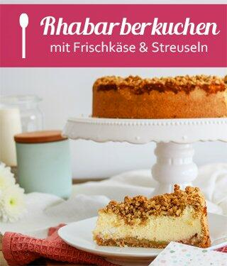 Rhabarber-Käse-Streuselkuchen
